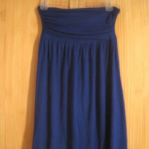 Frenzii Royal Blue Skirt, midi length Rayon Knit